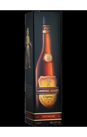 Karpatské brandy Original 36% v darčekovom balení