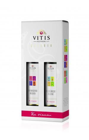 Vitis Galéria - Veltlínske zelené + Frankovka modrá darčekové balenie