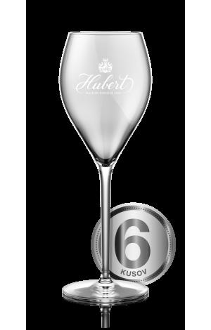 Hubert - poháre na sekt - 6 ks