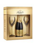 Hubert de Luxe v darčekovom balení + 2 poháre